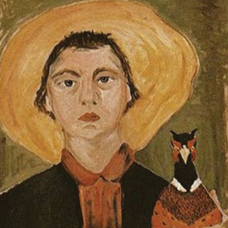 Flannery O'Connor Self-portriat
