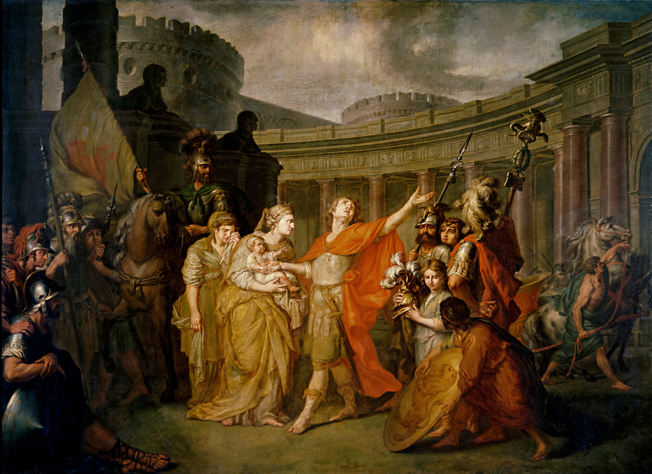 Farewell of Hector and Andromache, by Anton Losenka (oil on canvas AD 1773)